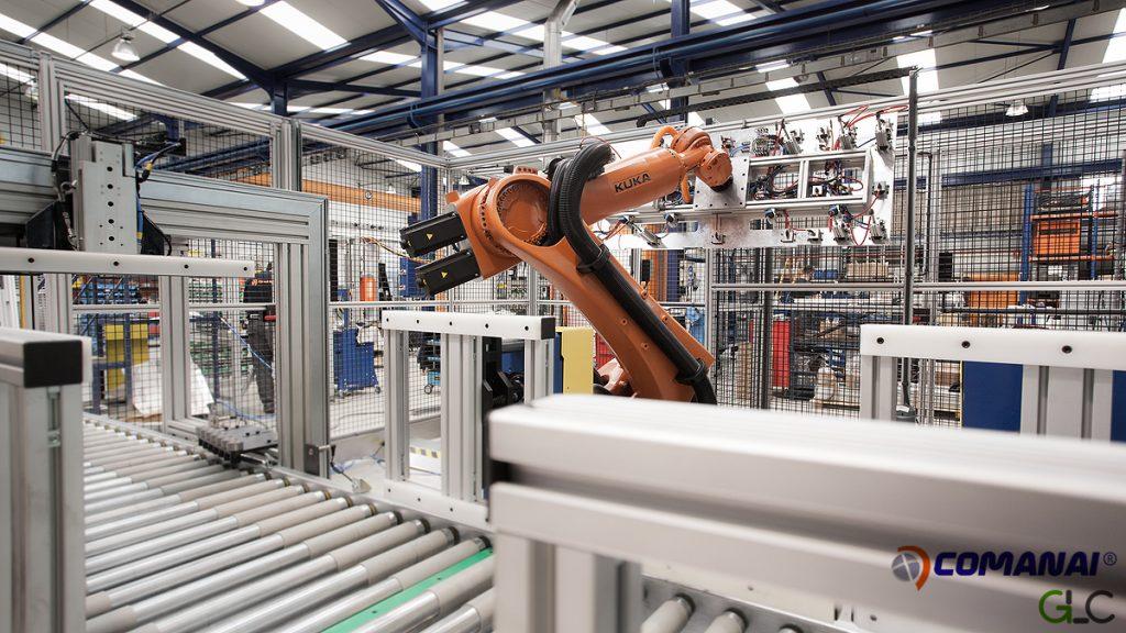 Línea Robotizada de cartón trasero